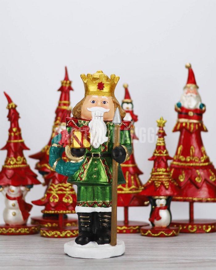 """Dapitan Tiangge 12"""" Green Tabletop Nutcracker Christmas Decor"""