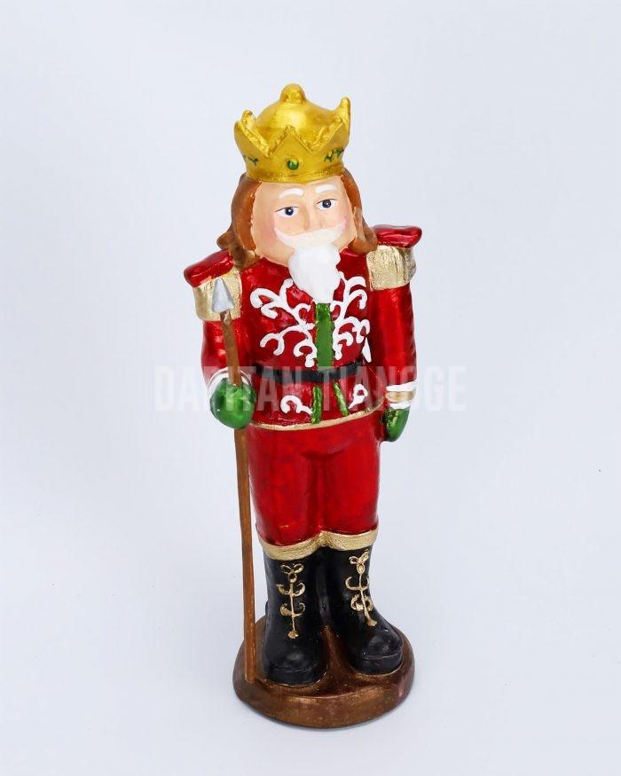 """Dapitan Tiangge 12"""" Red Tabletop Nutcracker Christmas Decor"""