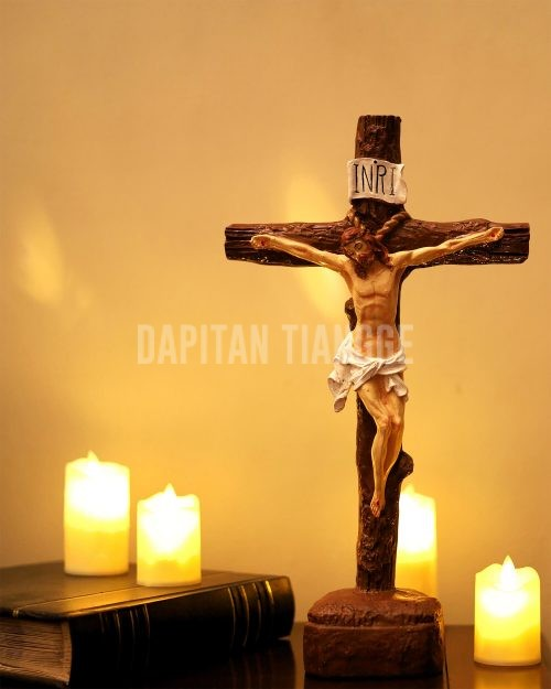 "Dapitan Tiangge 15"" Jesus Nailed on the Cross Crucifix Home Decor"