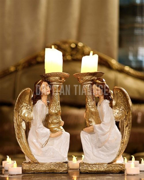 Dapitan Tiangge 2pc Guardian Angels Candle Holder Home Decor