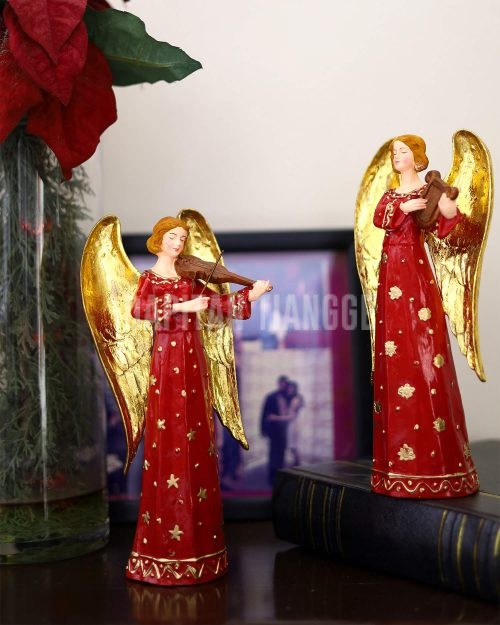 Dapitan Tiangge 2pc Orchestra Angels Red Home Decor