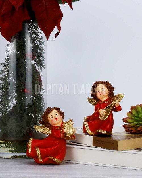 Dapitan Tiangge 2pc Small Tabletop Singing Angels Home Decor