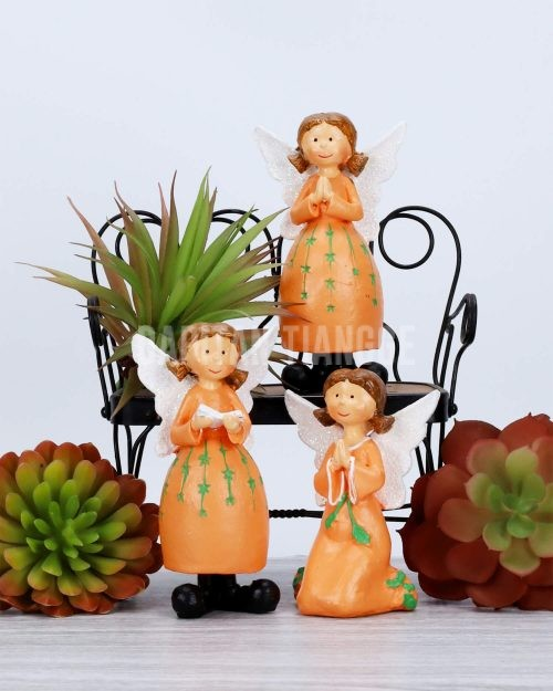 Dapitan Tiangge 3pc Cute Praying Angels Home Decor