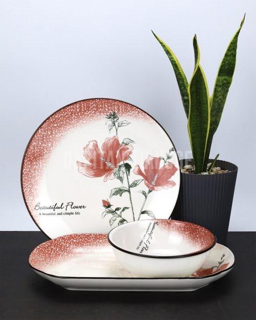 Dapitan Tiangge 3pc Floral Ceramic Dinner Set