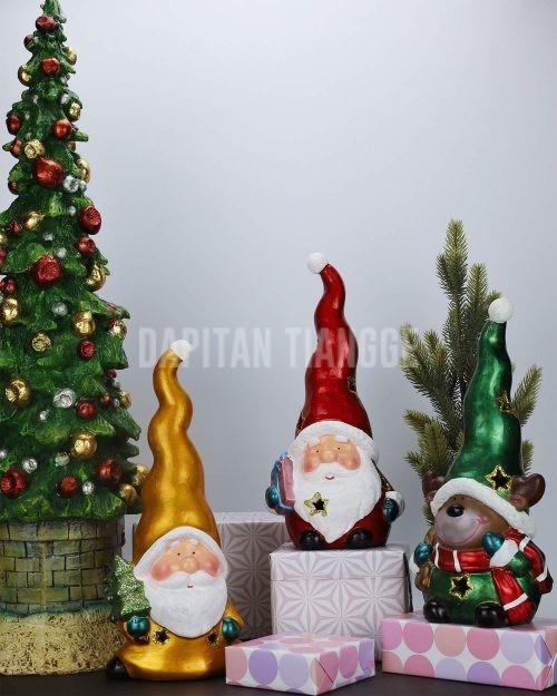 Dapitan Tiangge 3pc Santa Claus Gnome Tabletop Christmas Figure Christmas Decor