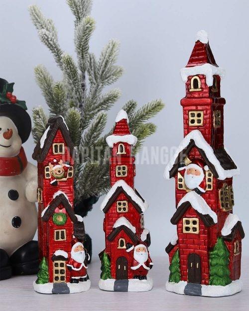 Dapitan Tiangge 3pc Winter Themed Christmas Village Christmas Decor