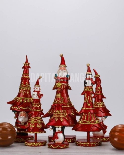 Dapitan Tiangge 6pc Tabletop Christmas Tree Set