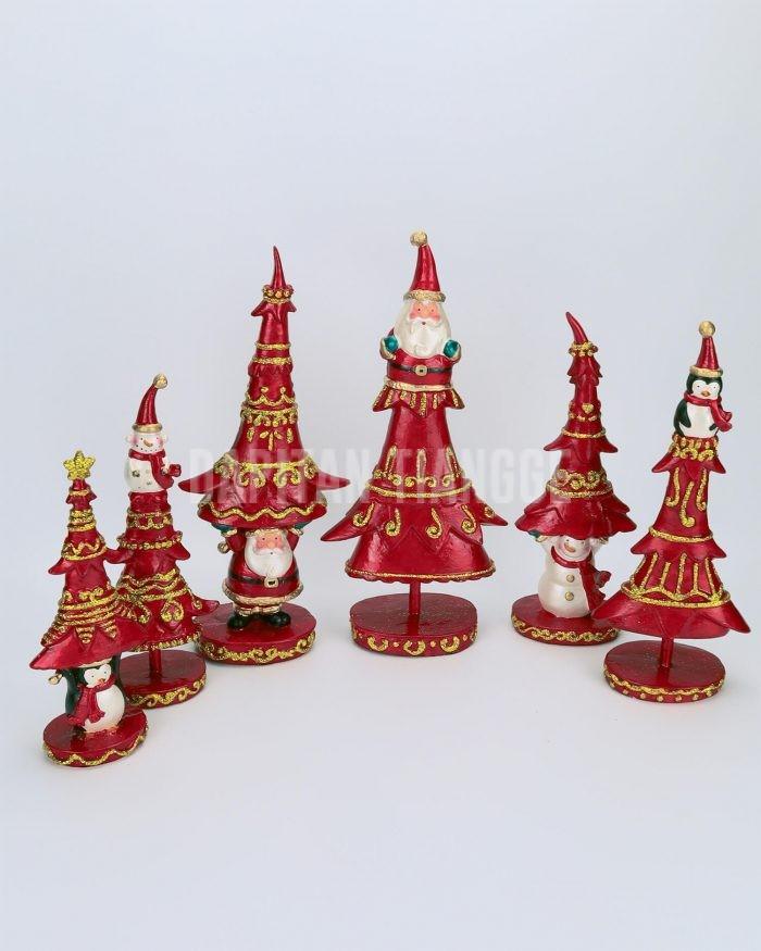 Dapitan Tiangge 6pc Tabletop Christmas Tree Set