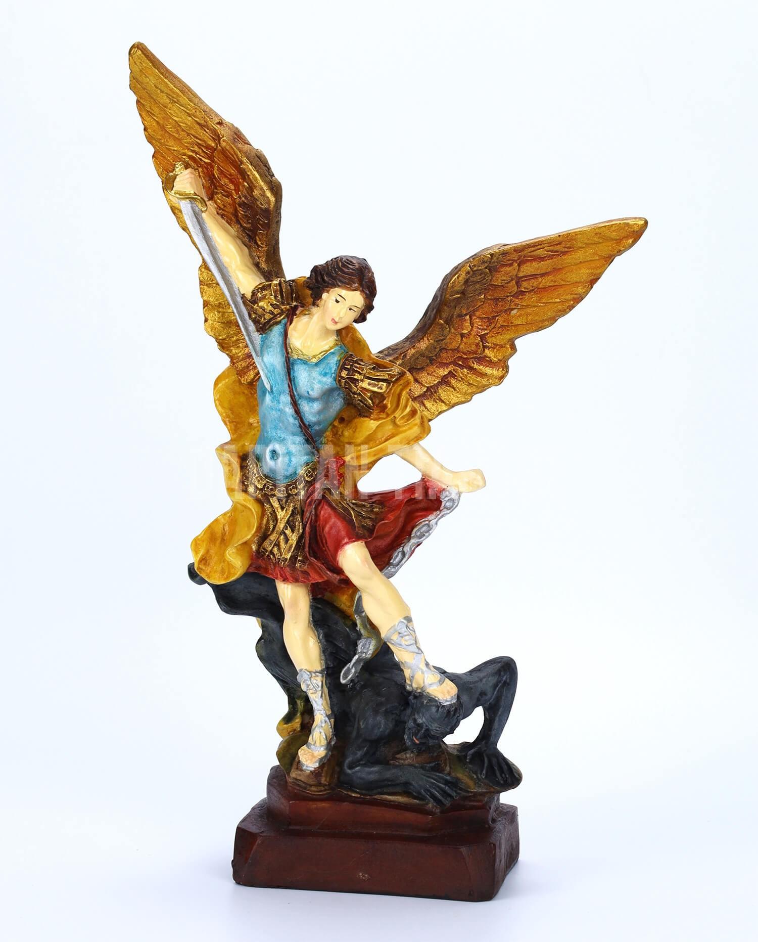 Dapitan Tiangge Archangel St. Michael Defeating Lucifer Gold Home Decor