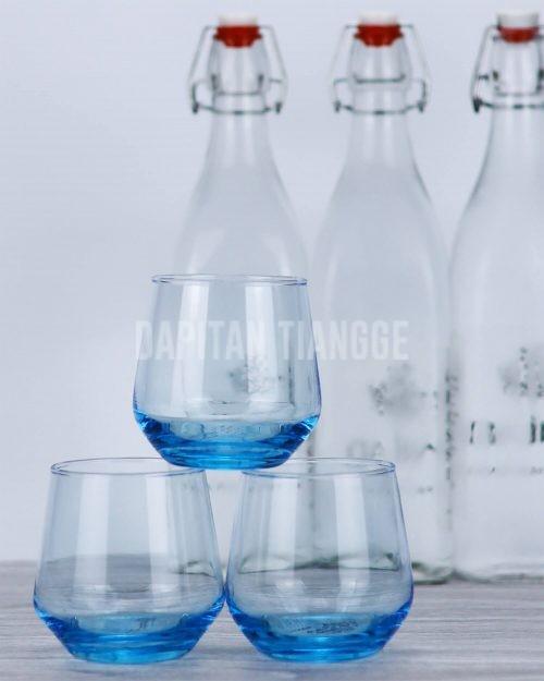 Dapitan Tiangge Blue Glass Cup (6 Pack) Kitchenware