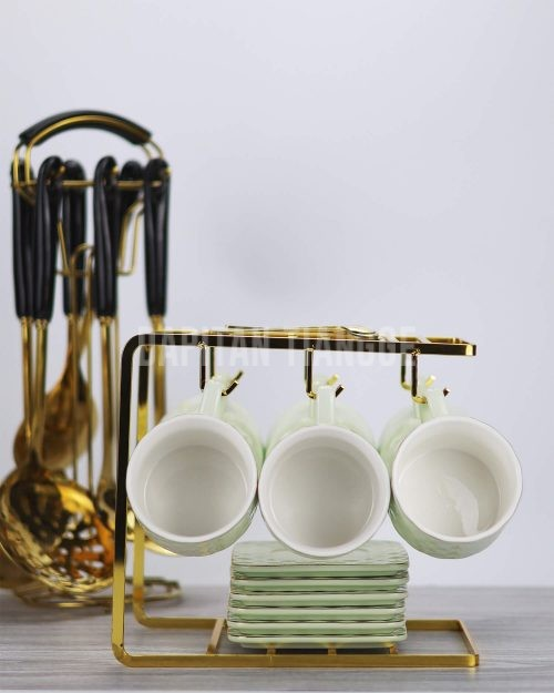 Dapitan Tiangge Espresso Cups and Saucer Set (6 Pack)