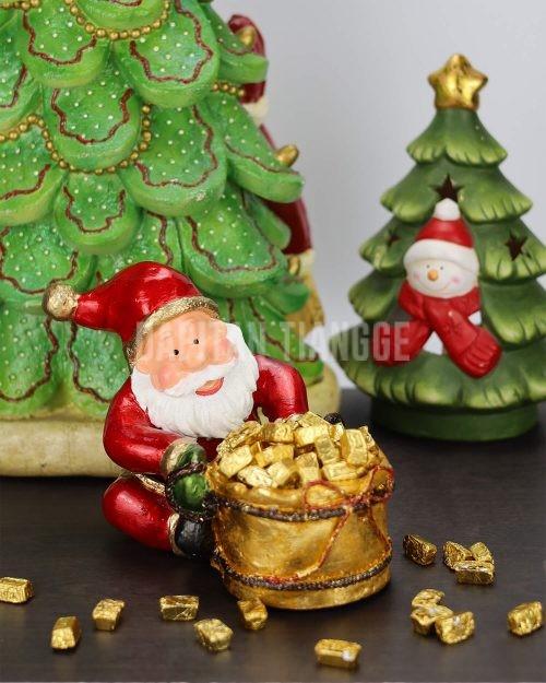 Dapitan Tiangge Jolly Santa Claus Candy Bowl Christmas Decor