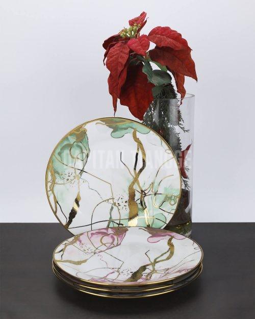 Dapitan Tiangge Marble Print Ceramic Plates