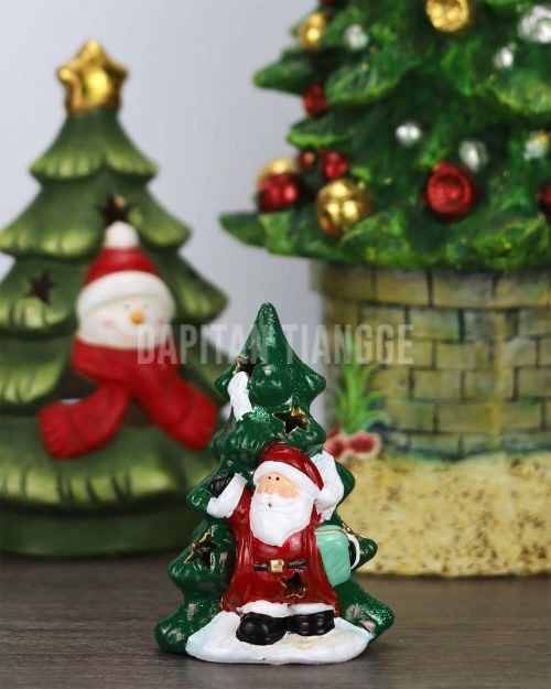 Mini Santa Christmas Tree Tabletop Decor
