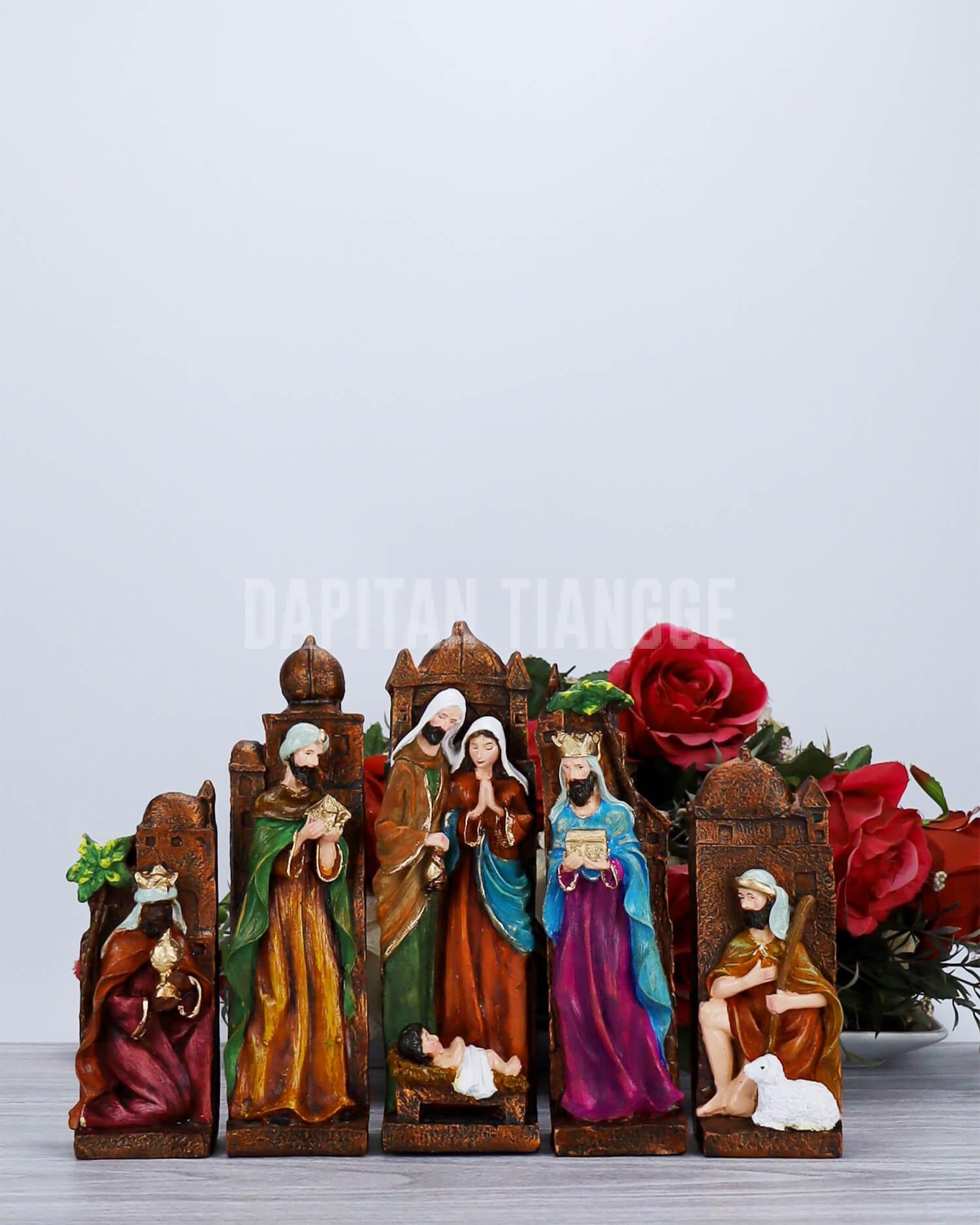 Dapitan Tiangge Rustic Blocks Nativity Set