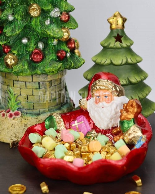 Dapitan Tiangge Santa Claus Candy Bowl Christmas Decor