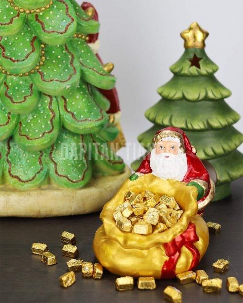 Santa Claus Gift Sack Candy Bowl