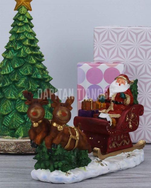 Dapitan Tiangge Santa Claus in a Sleigh Tabletop Christmas Decor