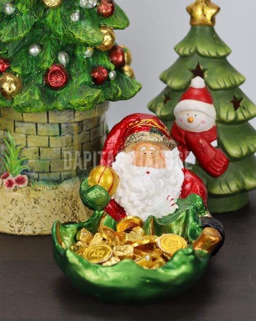 Dapitan Tiangge Santa Claus Leaf Bag Candy Bowl Christmas Decor