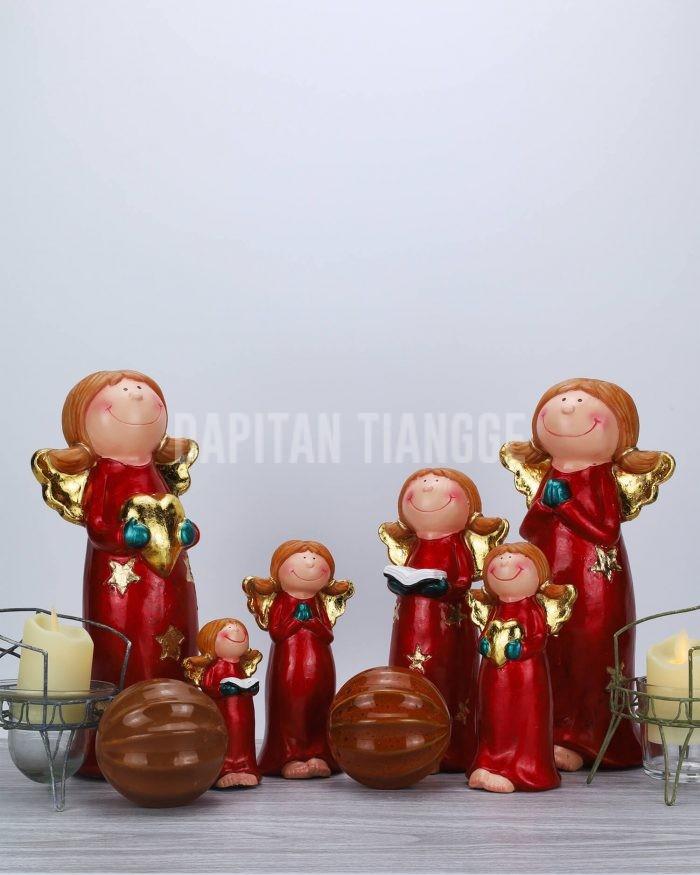 Dapitan Tiangge Set of 6 Happy Angels Figurine Christmas Home Decor