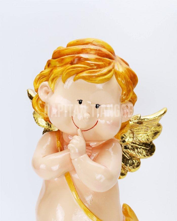 Dapitan Tiangge Standing Happy Cherub Angel Figurine Home Decor