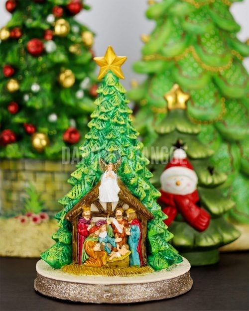 Dapitan Tiangge Tabletop Christmas Tree with Nativity Scene Christmas Decor
