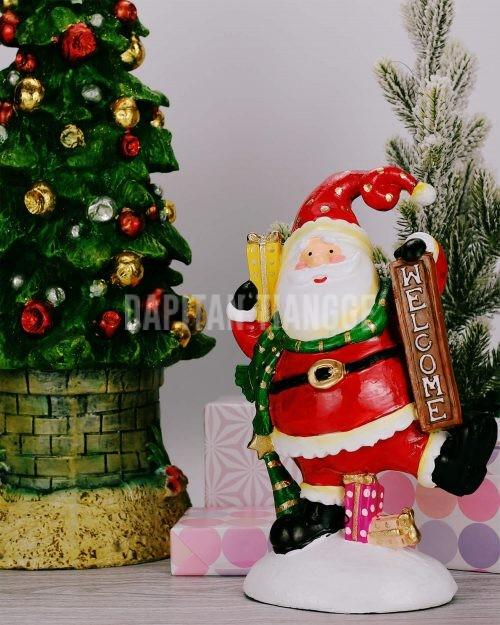 Welcome Santa Claus Christmas Decor