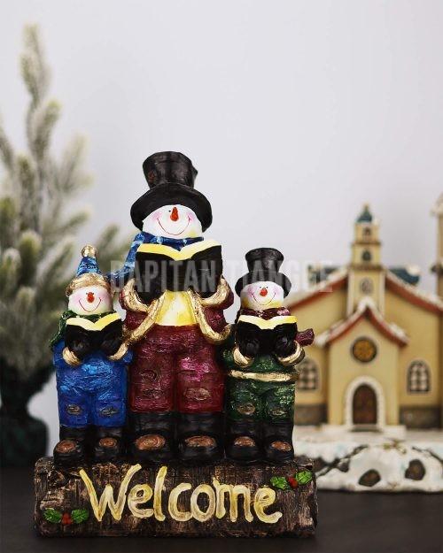 "Dapitan Tiangge ""Welcome"" Singing Snowman Christmas Decor"